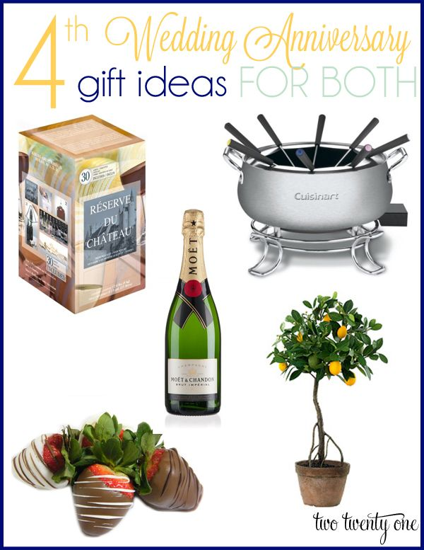 4th Anniversary Gift Ideas Gifts For Everyone Pinterest And Wedding