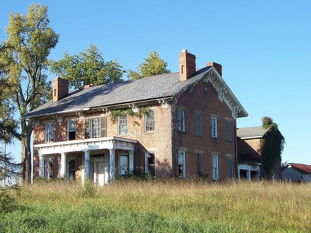 Beautiful abandoned home on Route 23 just north of South Bloomfield, Ohio,