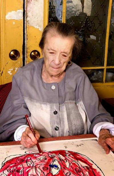 Artist Studio | Louise Bourgeois at work, New York, 2009.