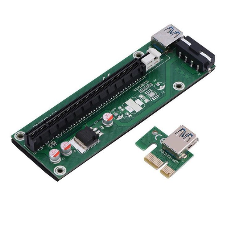 PCI-E PCI Express 1x to 16x Riser Card Adapter SATA Power Cable For BTC bitcoin mining device#25