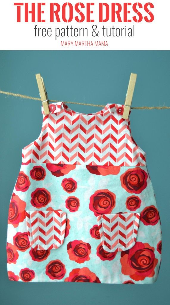 DIY lined baby dress tutorial and pattern size 0-3 months