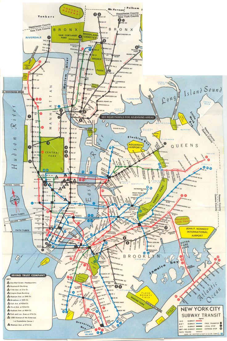 Best Transit Maps Images On Pinterest - Nyc subway map j train