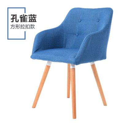 2pcs/lot Multi Color Solid Color Sofa Chair Modern leisure dining chair Home Beech Wood Arm Computer Chair Cotton Linen Sofa C47