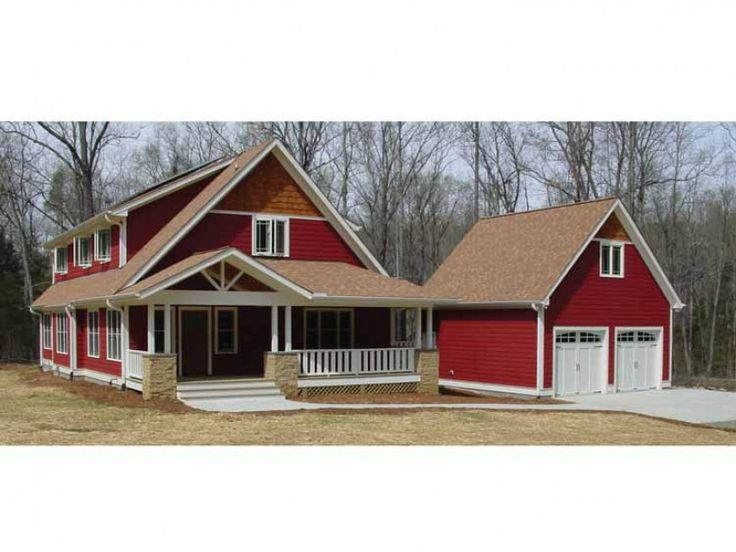 Eplans new american house plan large kitchen with cute for American barn plans