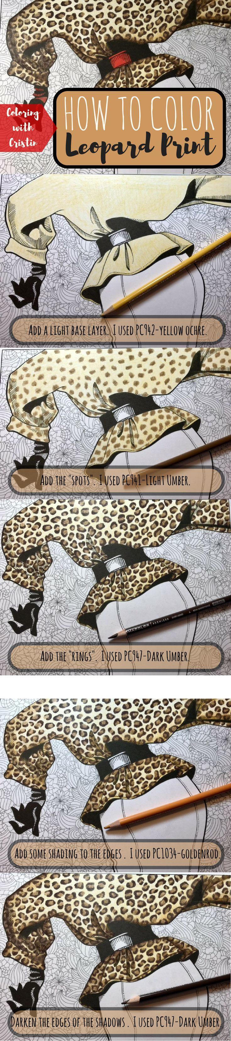 Coloring book for adults for pc - 5 Easy Steps To Color A Kickass Leopard Print Using Colored Pencils Coloring Tutorial Free Coloring Pages Adult Coloring Prismacolor Pencils
