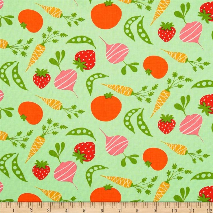 Garden Veggies Pink from @fabricdotcom  Designed by David Walker for Free Spirit, this cotton print is perfect for quilting, apparel and home decor accents.  Colors include green, orange, pink, red and cream.