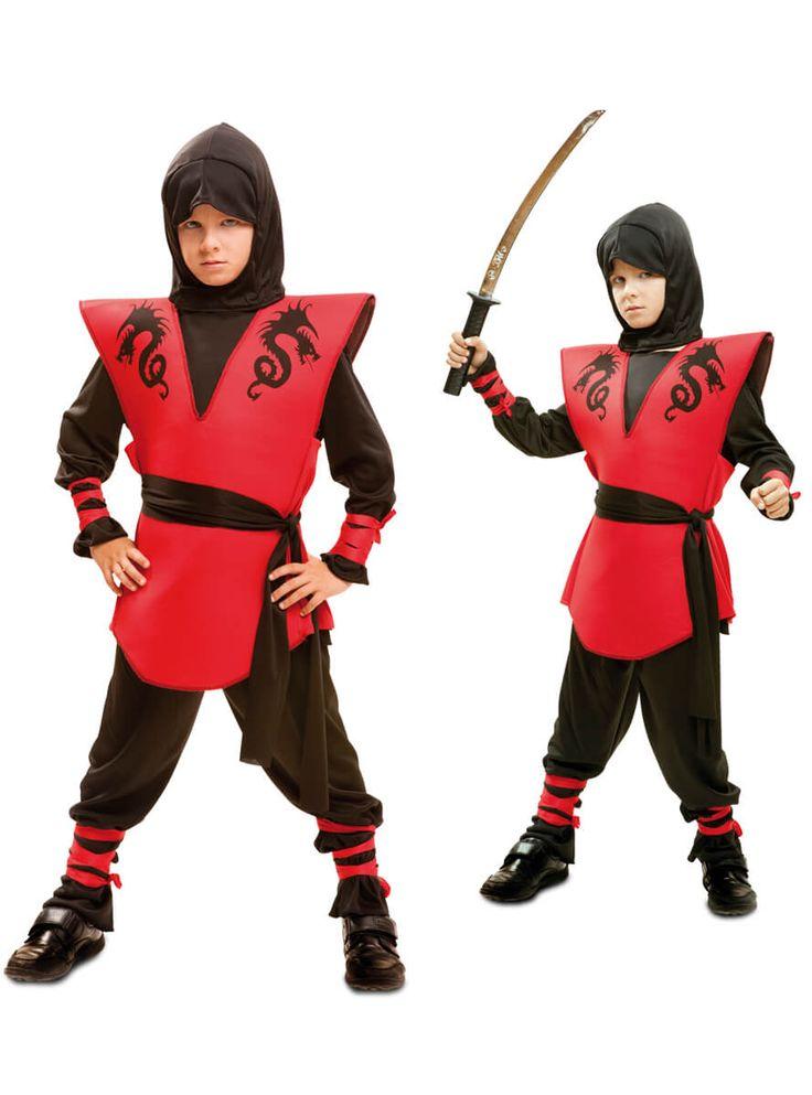 Disfraz de guerrero ninja Dragón para niño
