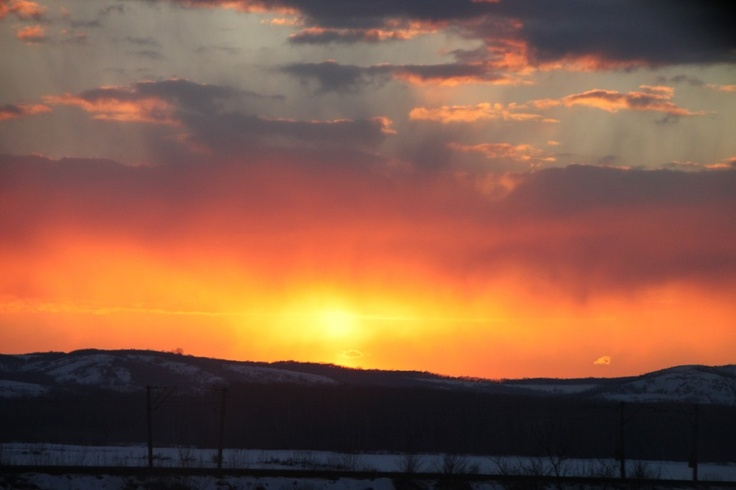 Sunset Sky on Fire - Public Domain Photos, Free Images for Commercial Use
