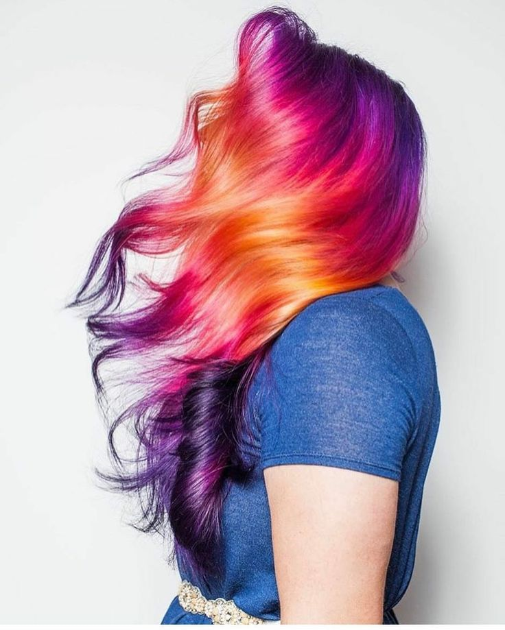Beauty: Fantasy Unicorn Purple Violet Red Cherry Pink yellow Bright Hair Colour Color Coloured Colored Fire Style curls haircut lilac lavender short long mermaid blue green teal orange hippy boho ombré woman lady pretty selfie style fade makeup grey white silver trend trending wild sass Pulp Riot
