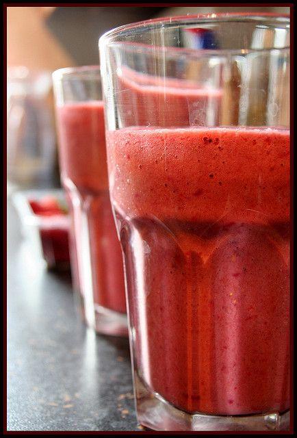 Blackberry-Yogurt Smoothies Recipe — Dishmaps