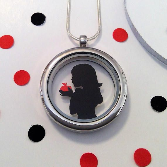 Snow White Papercut Pendant Necklace Version 1  Fairytale