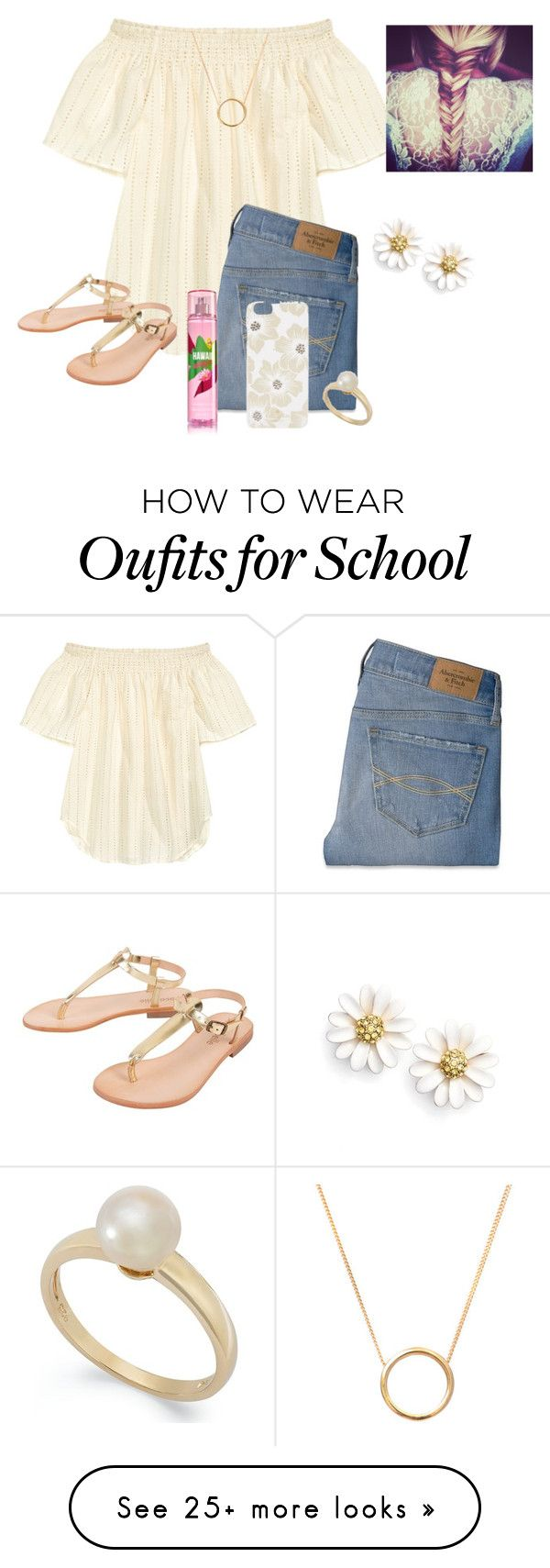 """Only 15 more days of school "" by raquate1232 on Polyvore featuring Cocobelle, Abercrombie & Fitch, Kate Spade, Lee Renee and Victoria Townsend"