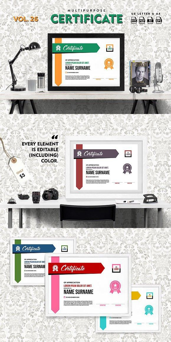 83 best Certificate Templates images on Pinterest Certificate - best of certificate templates for powerpoint