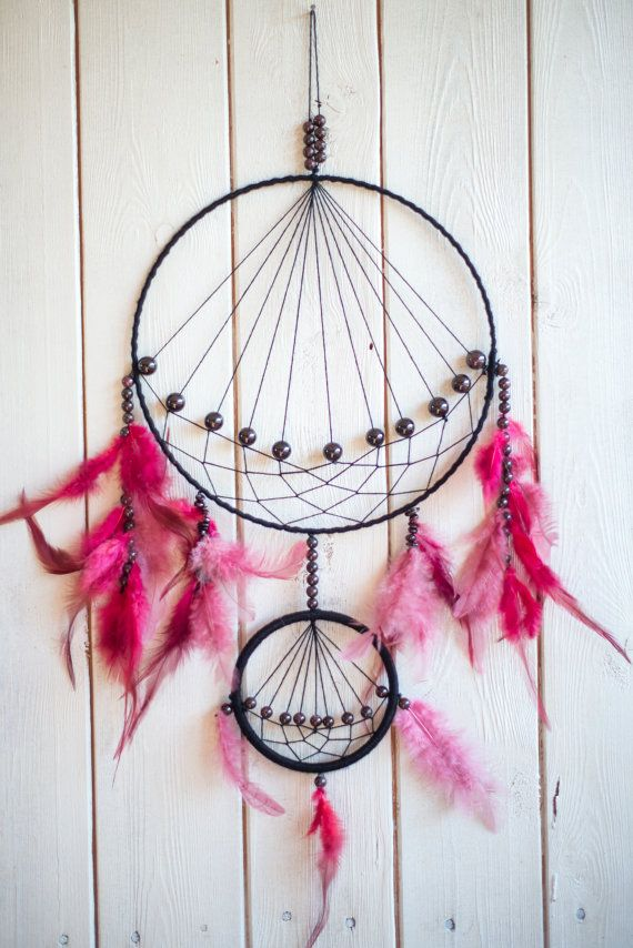 Large Dream catcher Large pink dreamcatcher Wall