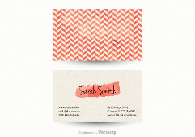 Chevron pattern business card Free Vector