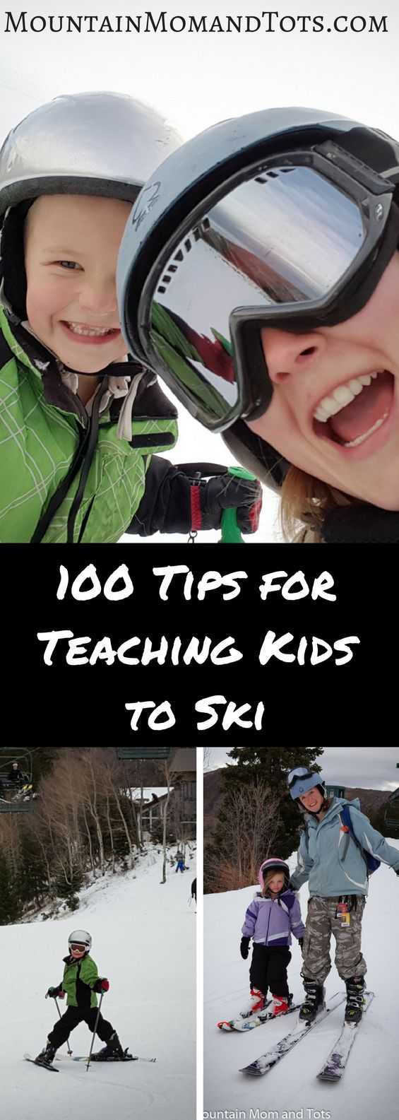 100 Tips for Teaching Kids to Ski Pin