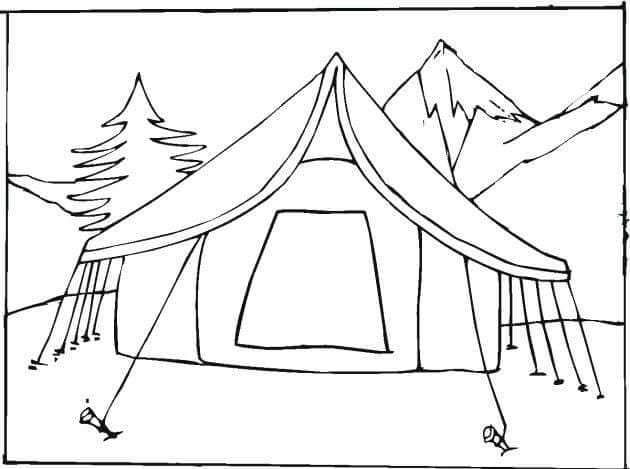 Tent Coloring Pages Camping Coloring Pages Bear Coloring Pages Family Coloring Pages