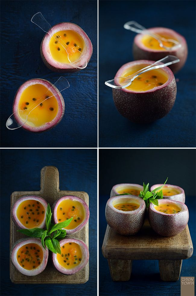 Passionfruit and mint panna cotta# yum! #excellent for cell renewal and energy! x