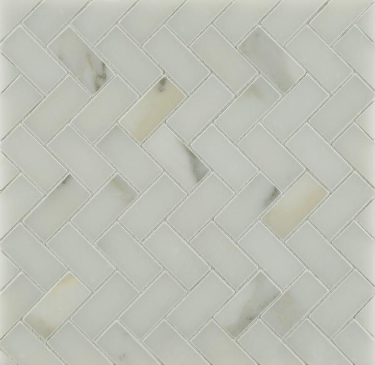Ann Sacks Calacatta Borghini Large Herringbone Marble