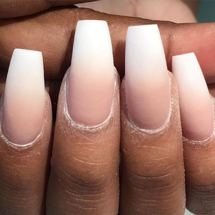 The process  ombré nails I pairs a Snow White with my custom love the skin your in Nude acrylic.. What do u think ?? by chinanails