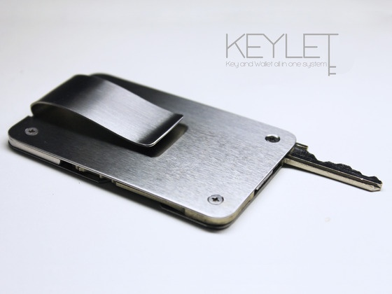 Keylet : A Minimal Key and Wallet All In One System by Anthony & Nhu, via Kickstarter.