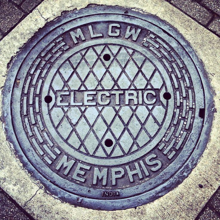 Memphis manhole cover manholes covers pinterest memphis for Bureau en gros near me