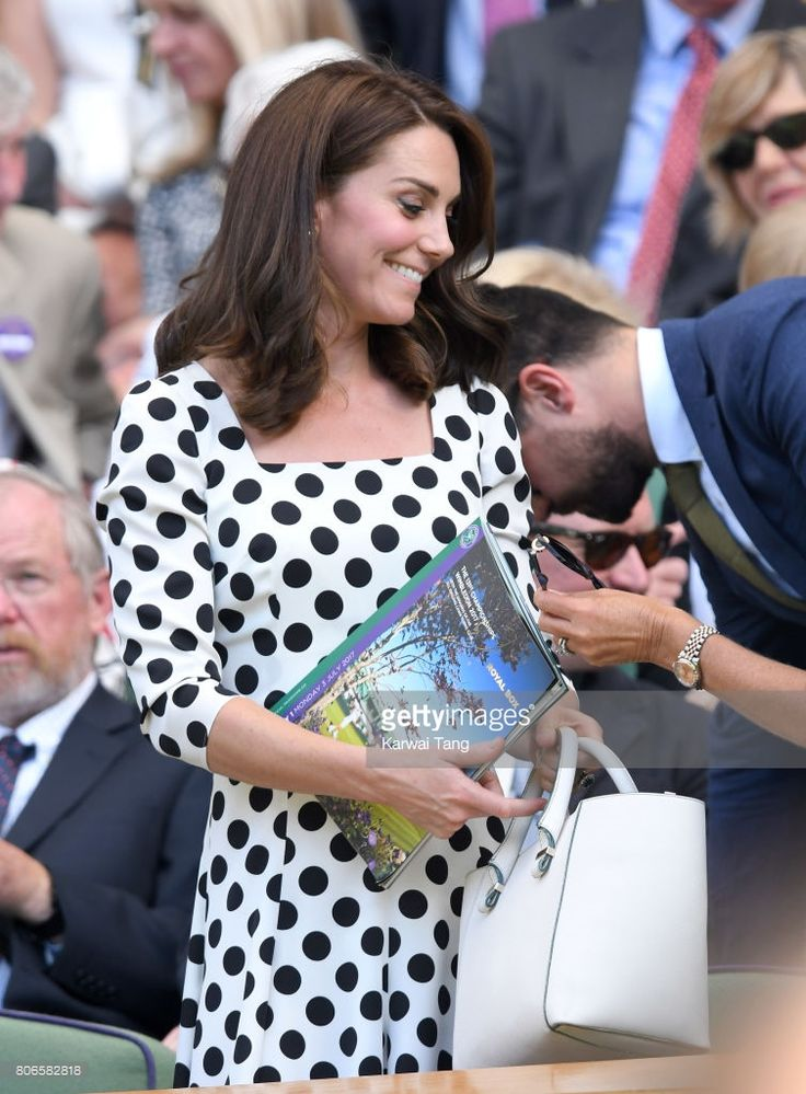 Catherine, Duchess of Cambridge attends day one of the Wimbledon Tennis Championships at Wimbledon on July 3, 2017 in London, United Kingdom.