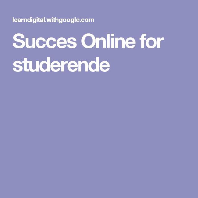 Succes Online for studerende