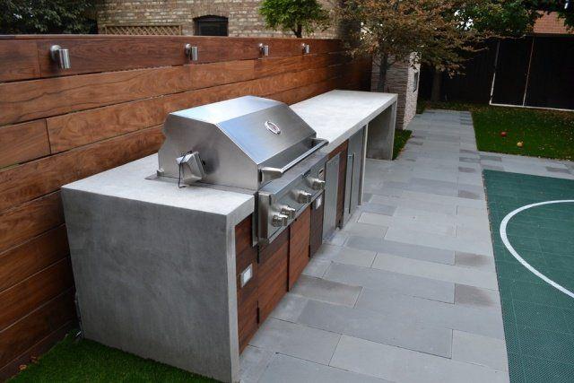 Evier en béton ciré, cuisine du0027extérieur en béton ciré Mur de - beton cellulaire en exterieur