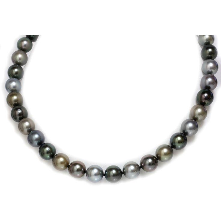 rare colors  tahitian south sea pearl necklace 12 -11 mm - Seven Seas Pearls