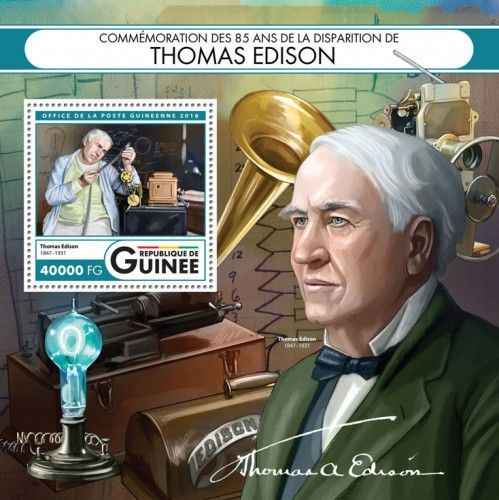 GU16422b Commemorating 85 years of the death of Thomas Edison (Thomas Edison (1847–1931))