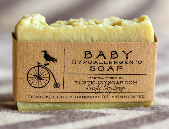 Baby Soap - Hypoallergenic soap,Rustic Soap, All Natural Soap, Handmade Soap, Silkworm Cocoons, Chamomile infusion, Unscented Soap.