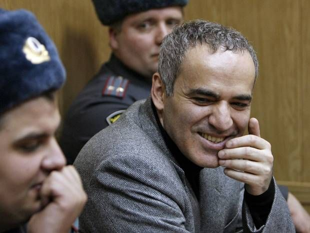 Russia ordered to compensate chess grandmaster (and Putin critic) Garry Kasparov over protest arrest