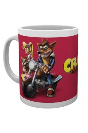 Crash Bandicoot Bike Mug
