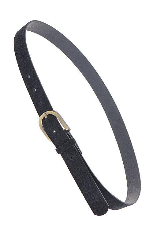 Black Statement Skinny Belt