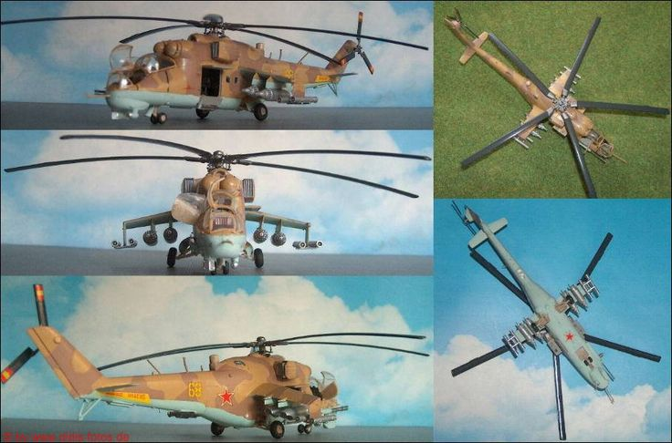 Mil Mi-24D (Hind) Kampfhubschrauber (Airfix 5017) 1:72