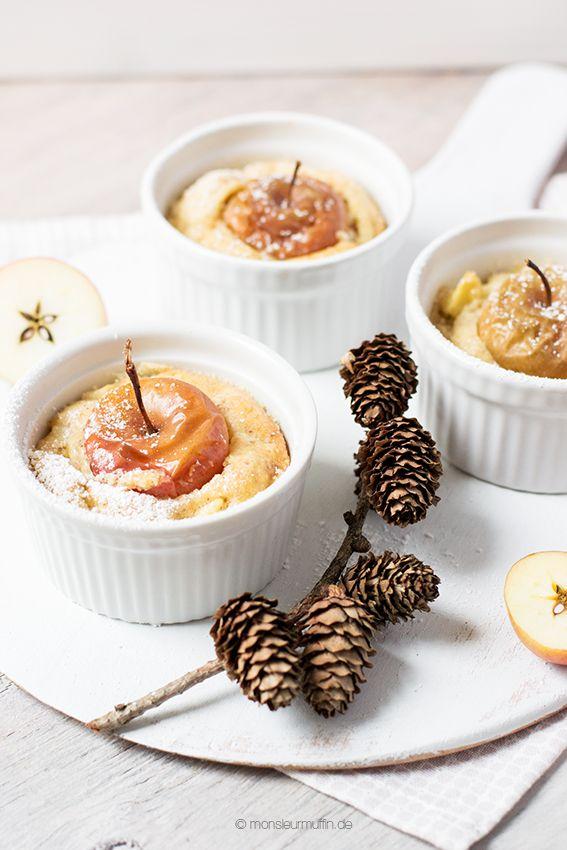 Bratapfel-Kuchen | apple cake | Apfel | Apfel-Kuchen mit gemahlenen Mandeln | © monsieurmuffin
