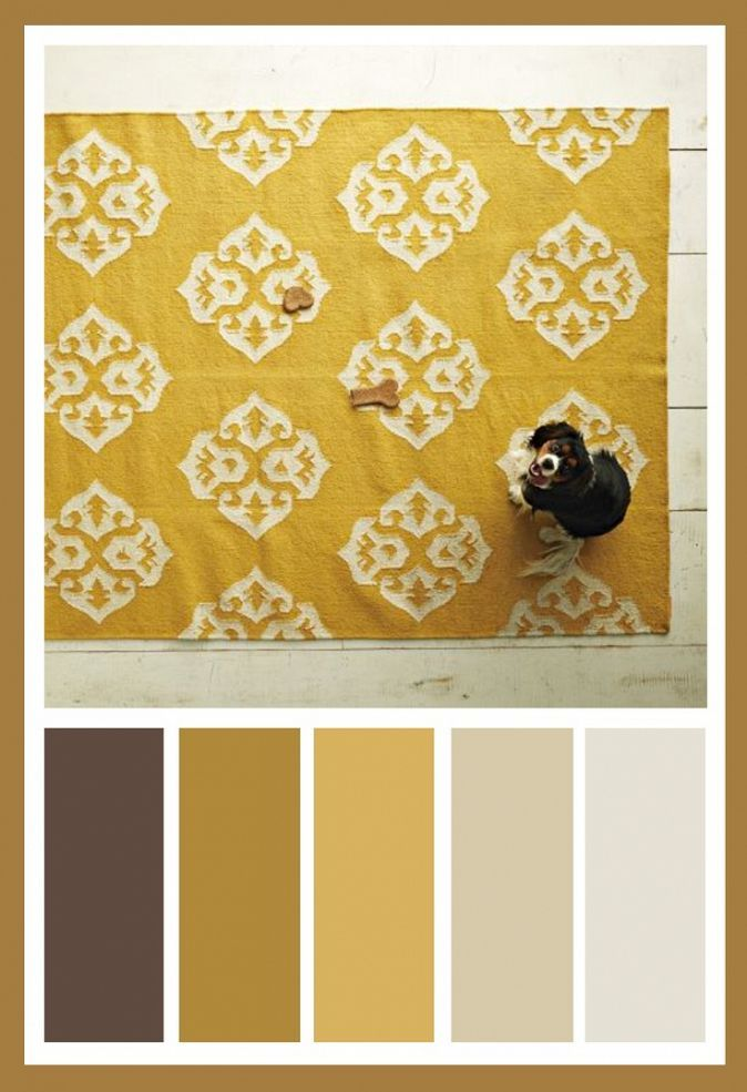 West Elm Gray, Yellow And Brown Living Room Design