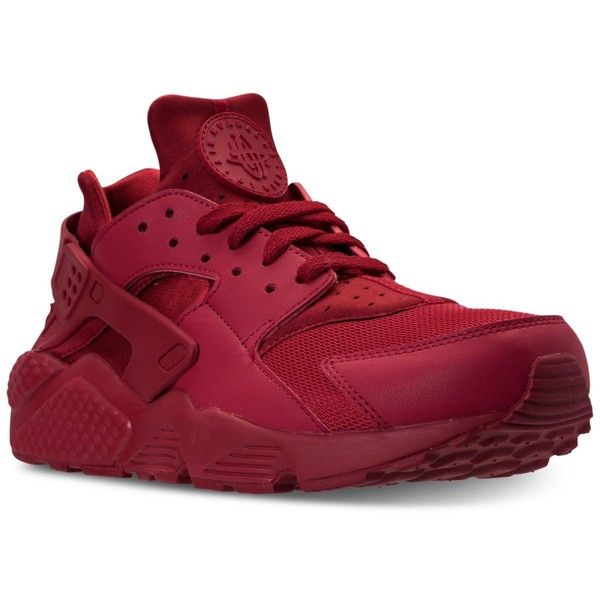 Nike Men's Air Huarache Run Casual Sneakers from Finish Line ($110) ❤ liked on Polyvore featuring men's fashion, men's shoes and men's sneakers