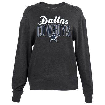 Women's Dallas Cowboys Charcoal Wren Pullover Sweatshirt