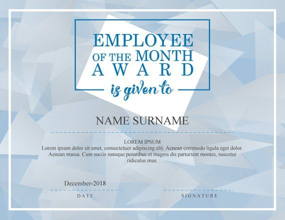 employee of the month award editable fillable diploma pdf