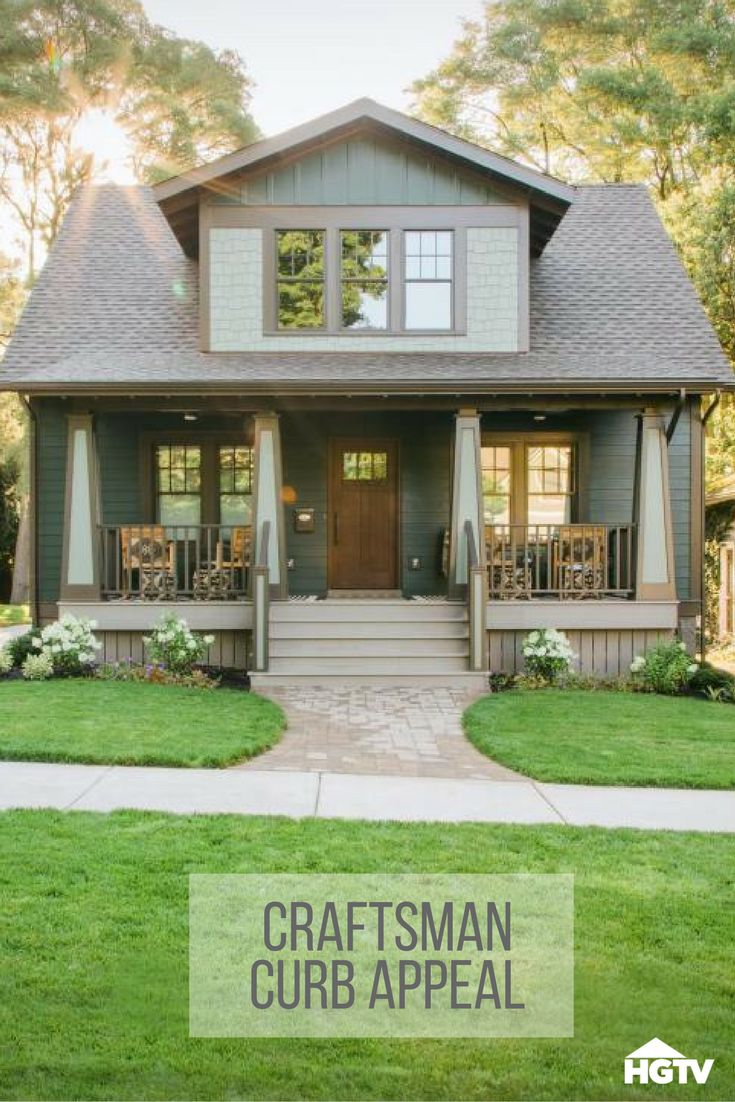 Craftsman exterior house paint ideas - Exterior Pictures From Hgtv Urban Oasis 2016 Craftsman Cottagecraftsman Exteriorcraftsman Homescraftsman