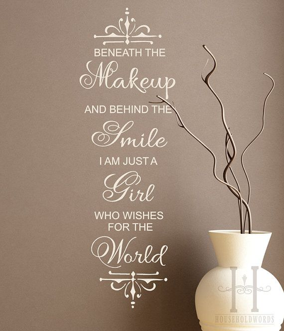 Marilyn Monroe quote Wall Decal words Beneath by HouseHoldWords