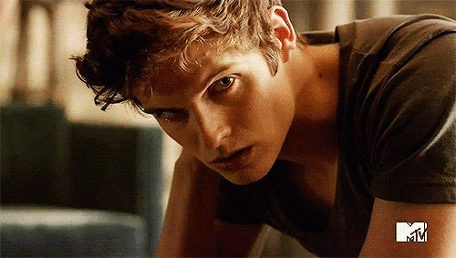 """Look into his eyes.   41 GIFs Of The """"Teen Wolf"""" Men To Make You Drool"""