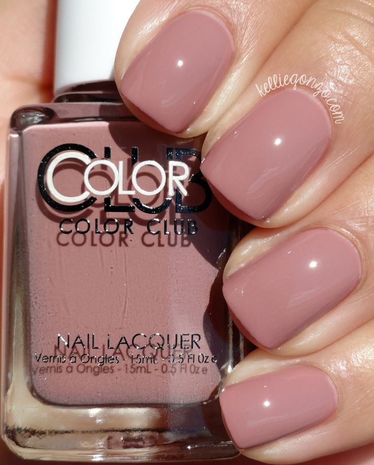 Brand: Color Club // Collection: Shift Into Neutral (2015) // Color: Get a Mauve n It // Blog: KellieGonzo