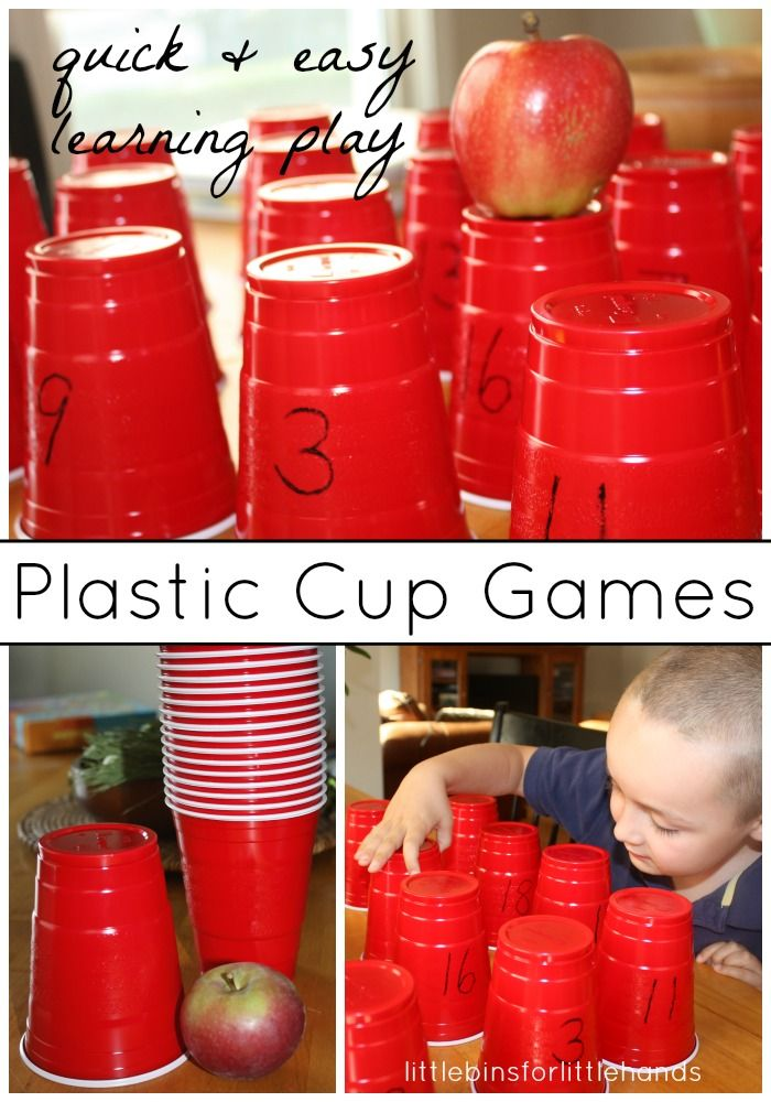 Plastic cup learning games for kids early learning - Cups and kids ...