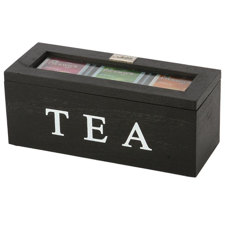 Thee doos Altavilla 3 vaks zwart. Collectione / Casa-Bella #Accessoires #Opbergen #Doosje #Box #Theedoos #Tea
