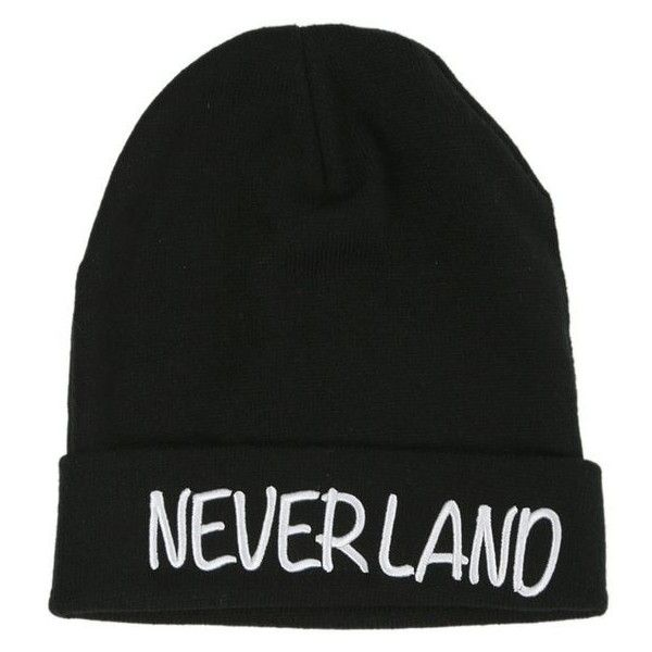 Disney Peter Pan Neverland Beanie Hot Topic ❤ liked on Polyvore featuring accessories, hats, disney hats, beanie caps, beanie hat, beanie cap hat and disney