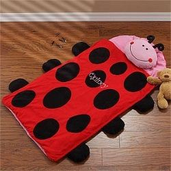 Personalized Kids Sleeping Bag - Ladybug Nap Mat  $69.95