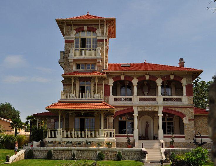 """Villa """"La Tosca"""", Taussat, commune de Lanton, pays de Buch, Bassin d'Arcachon, Gironde, Aquitaine, France.   par byb64"""